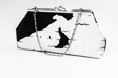 Shadow Inukshuk Clutch (Black/White)