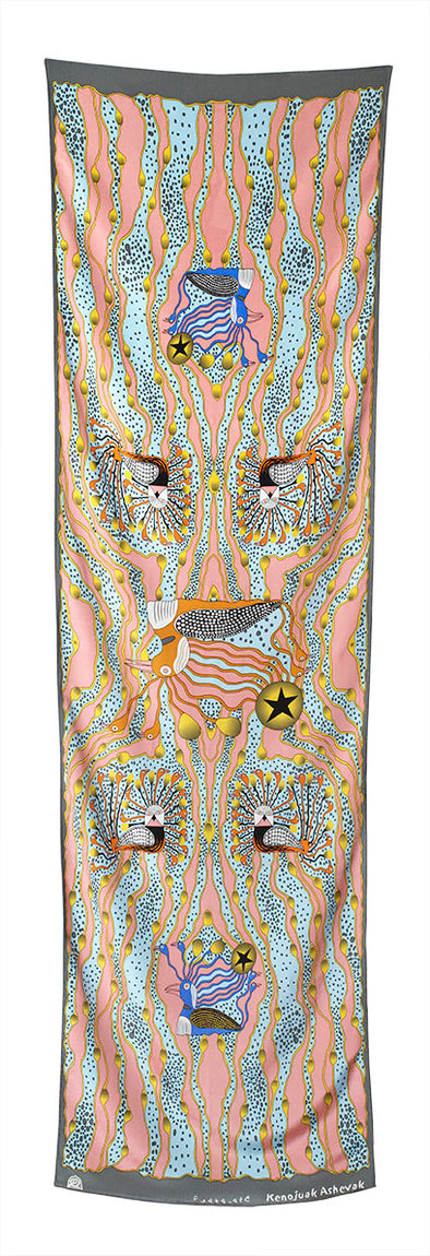 Enchanted Birds Rectangular Scarf (Bush)