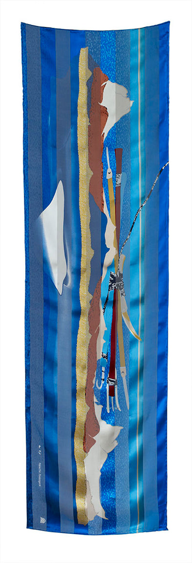 Ice Float Rectangular Scarf (Blue Heaven)