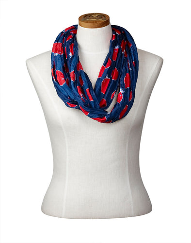 Churring Birds Infinity Scarf (Red)