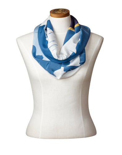 Shadow Infinity Scarf Blue Ash