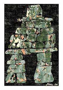Inukshuk Carpet, 3 of 6 (Green)