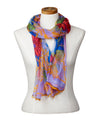 Nesting Birds Rectangular Scarf (Blue Stone)