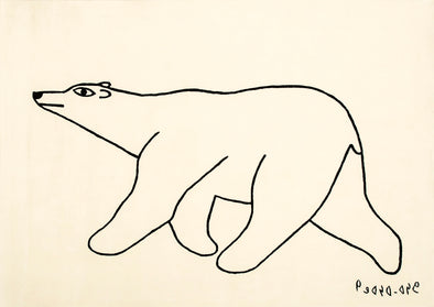 Nanuq Bear Carpet, 1 of 8 (Black Line/White)by Kenojuak Ashevak