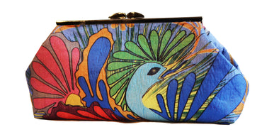 Nesting Bird Clutch- Blue Stone