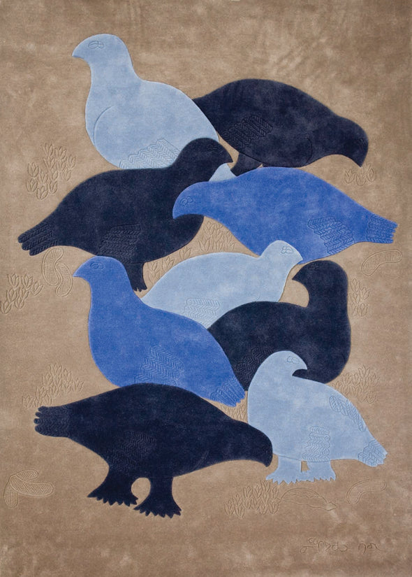 Ptarmigan Carpet, 3 of 6 (Blue)