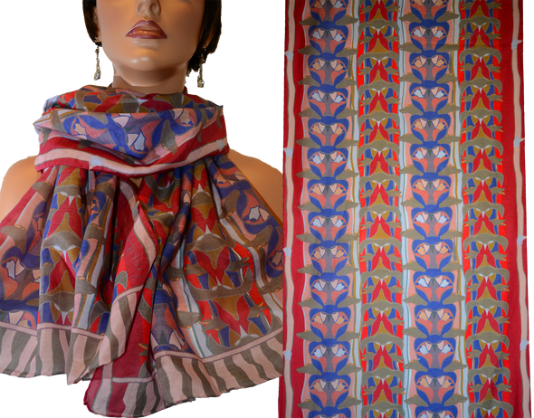 Totem Rectangular Scarf (Fire)
