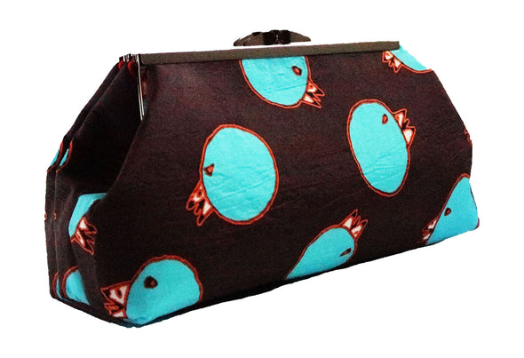 Churring Birds Clutch (Turquoise)