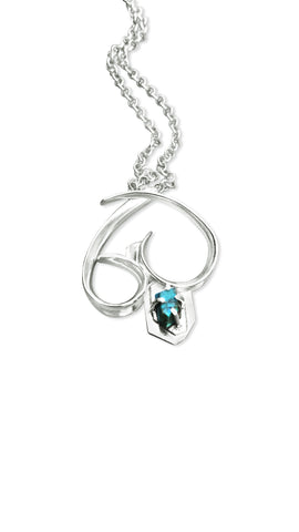 Bleeding Heart Necklace - Turquoise