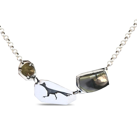 Roadrunner Imperial jasper and imperial topaz necklace