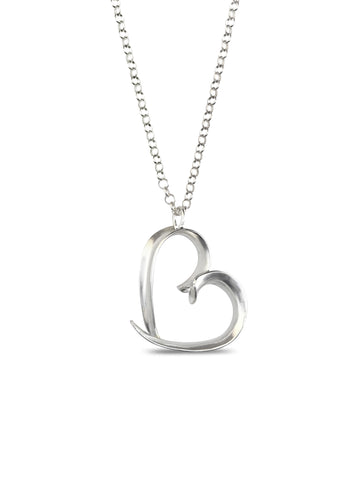 Small Heart-shaped Anticlastic Necklace