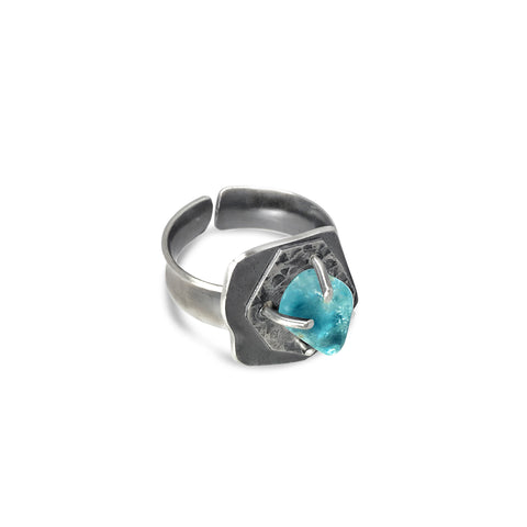 Genuine natural American Turquoise Adjustable ring