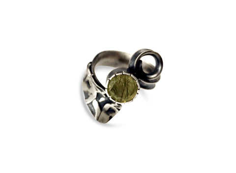 Texturecurl Ring- Toumalated Quartz pattieparkhurst