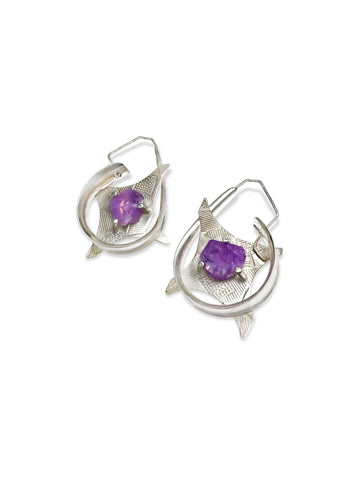 High As A Kite Earrings - Amethyst pattieparkhurst