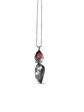 Feather Necklace - tourmaline