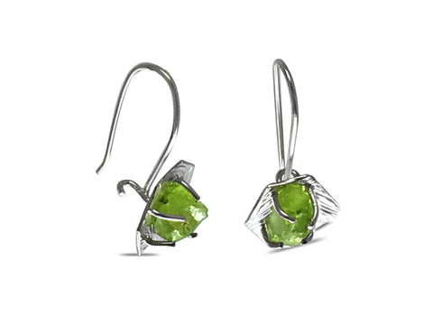 Hexagon Peridot Earrings pattieparkhurst