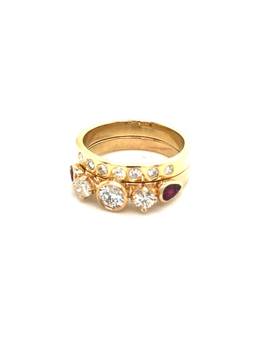18k Gold and diamond Wedding Ring