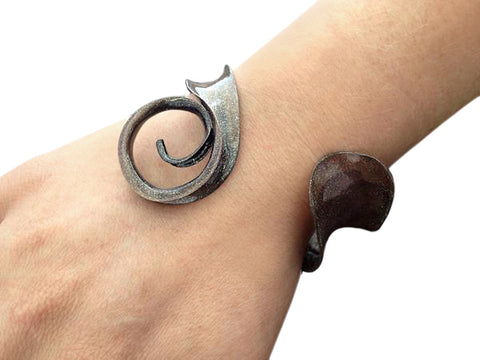 Blissful Swirl Bracelet - Copper