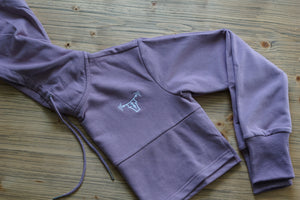 Essential Women's Cropped Hoodie- Berry Pink