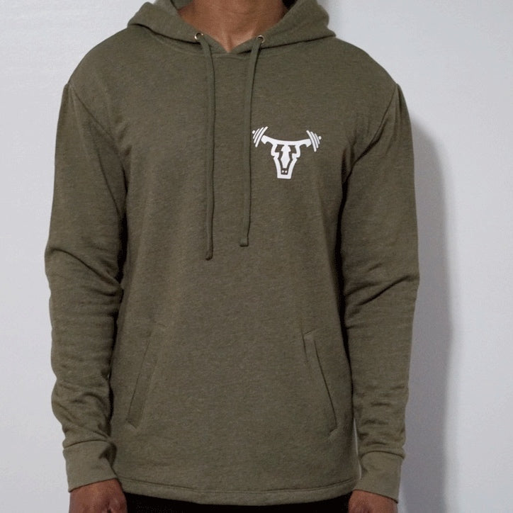Iconic Unisex Pullover Hoodie- Olive
