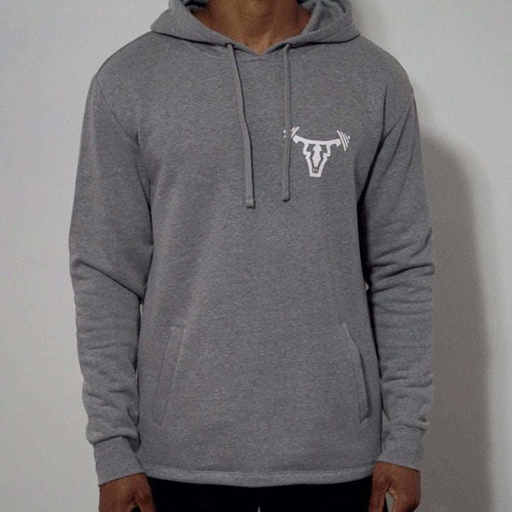 Iconic Unisex Pullover Hoodie- Grey
