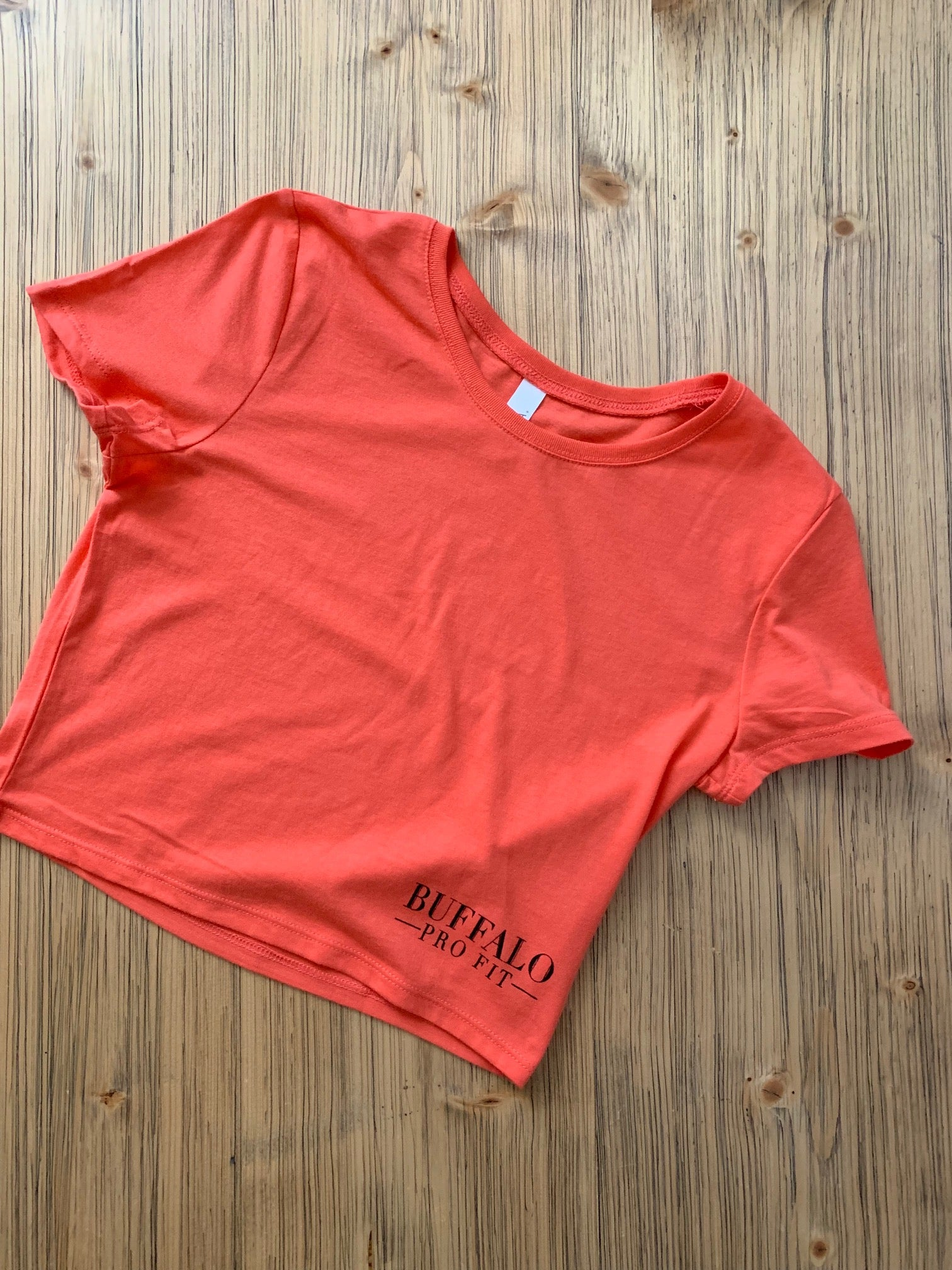 Classic Women's Cropped T-Shirt- Coral