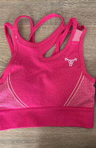 Iconic Seamless Flex Sports Bra Hot Pink
