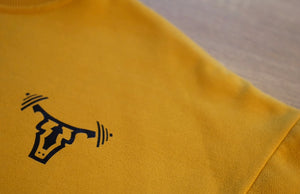 Unisex Crew Neck Sweatshirt Yellow