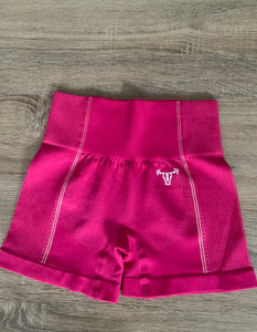 Iconic Seamless Flex Shorts Hot Pink