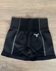 Iconic Seamless Flex Shorts Charcoal