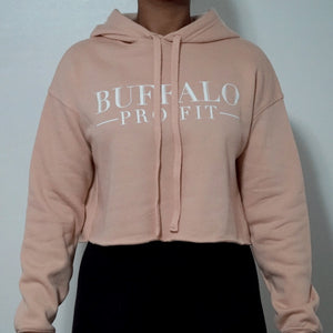 Classic Women's Cropped Hoodie- Peach