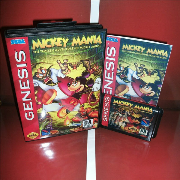 Mickey Mana The timeless Adventures of Mickey Moust US Cover with box and manual For Sega Megadrive Genesis Video Game Console