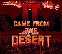 It Came From The Desert SEGA MegaDrive