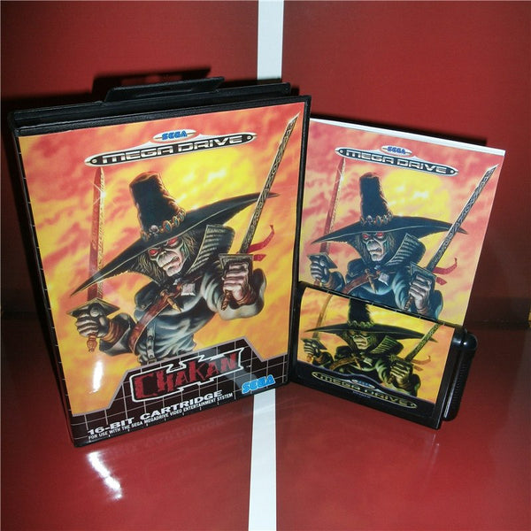 Chakan EU Cover with box and manual For Sega Megadrive Genesis Video Game Console