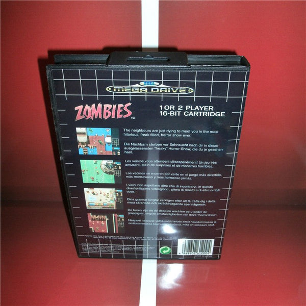 Zombies EU Cover with box and manual for Sega MegaDrive Genesis Video Game Console 16 bit MD card