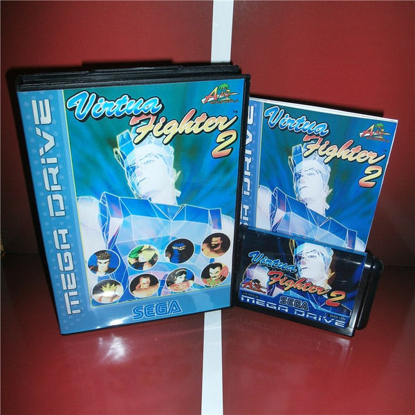 Virtua Fighter 2 EU Cover with box and manual for Sega MegaDrive Genesis Video Game Console 16 bit MD card