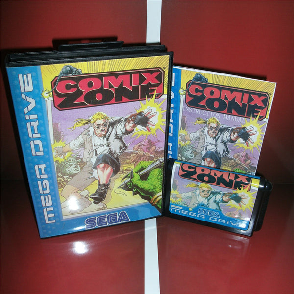 Comix Zone EU Cover with box and manual For Sega Megadrive Genesis Video Game Console