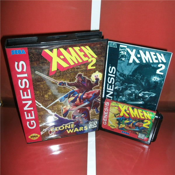 X-Man2 US Cover with box and Chinese manual For Sega Megadrive Genesis Video Game Console 16 bit MD card