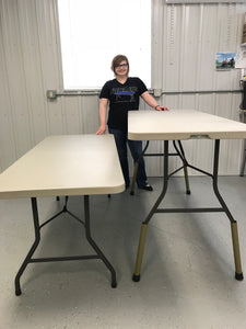 standing work stations, raised tables, table risers