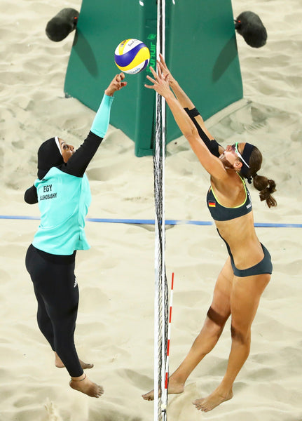 Egypt versus Germany 2016 Barcelona Olympics Beach Volleyball