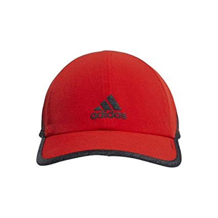 Adidas Mens Superlite Relaxed Adjustable Performance Cap - Active Red/Heather Grey