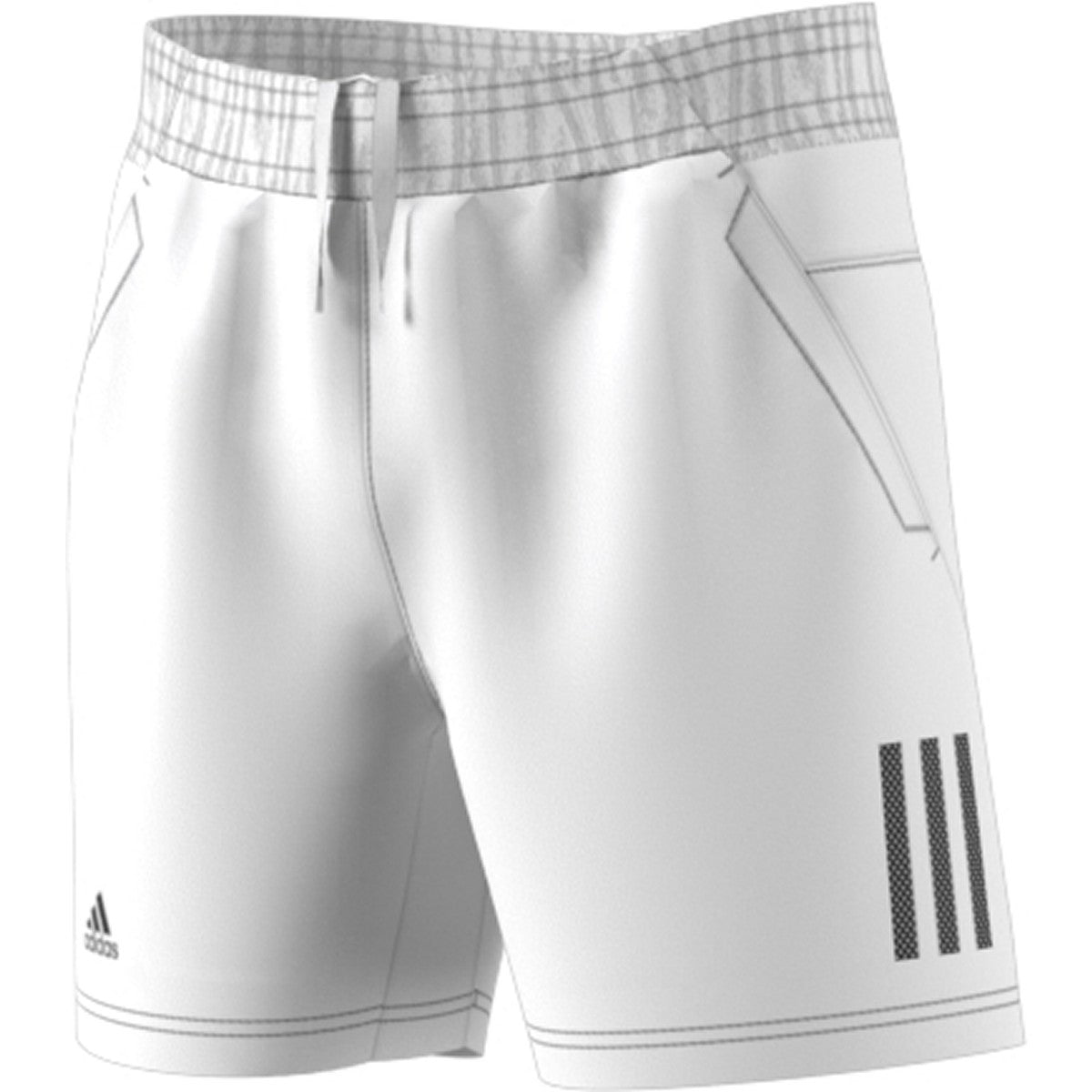 Adidas Boys Club 3STR Short    White/Black
