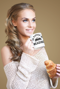I'd Rather Be Reading - Funny Book Lover Coffee Mug