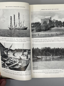 1935 National Geographic Magazine Albrecht Bound Vol 67 Jan.-June Index Globe