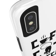 Load image into Gallery viewer, Coffee Cats Witches and Spell Halloween Tough Phone Case