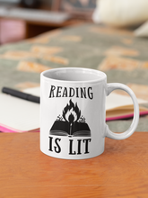 Load image into Gallery viewer, Reading is Lit - Funny Book Lover Coffee Mug