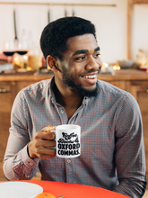 Load image into Gallery viewer, Coffee Books and Oxford Commas - Funny Book Lover Coffee Mug