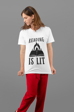 Load image into Gallery viewer, Reading is Lit - Funny Book Lover Unisex T-Shirt