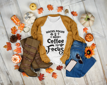 Load image into Gallery viewer, Hocus Pocus I Need Coffee to Focus Funny Halloween Unisex T-Shirt
