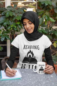 Reading is Lit - Funny Book Lover Unisex T-Shirt